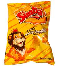 Simba Creamy Cheddar Cheese Potato Chips Packet
