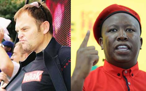 Steve Hofmeyr wants to moer someone, Julius Malema shows who's number 1.