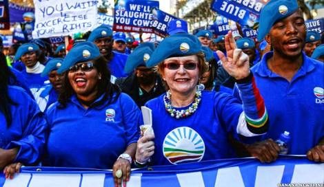 The DA army marches for freedom from corruption in our lifetime.