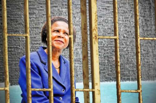 Dr Ramphele makes herself at home.