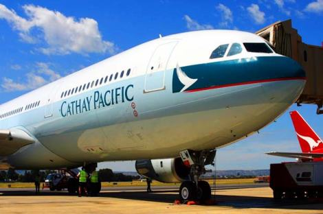 Cathay Pacific Airways aeroplane