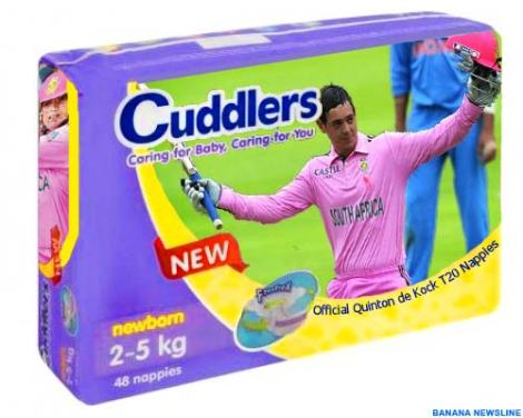 Cuddlers Quinton de Kock T20 Nappies