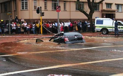 Flooding in Johannesburg caused some discomfort.