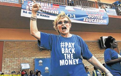 Helen Zille out in full force.