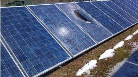 The melting solar panels of the Kathu solar plant.