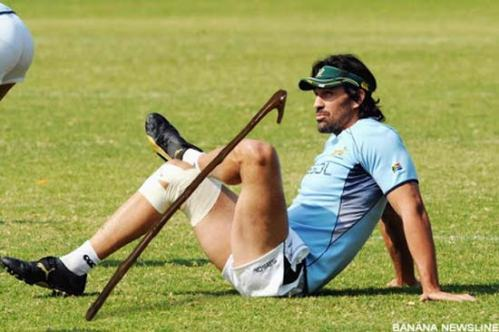 Victor Matfield with a kierie